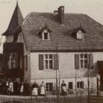 Das Gasthaus, wie es 1905 zu finden war.