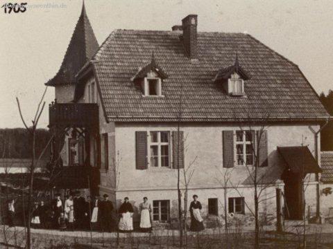 Historisches Bild des Gasthauses von 1905