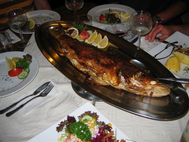 """Fischessen im Gasthaus """"Am Rheinsberger See"""""""