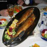 """Für frischen Fisch ist das Gasthaus """"Am Rheinsberger See"""" berühmt."""