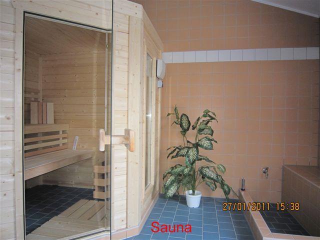 Entspannen in der neuen Sauna