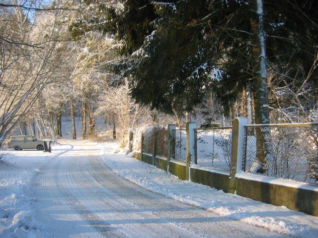 Verschneite Wege in Warenthin