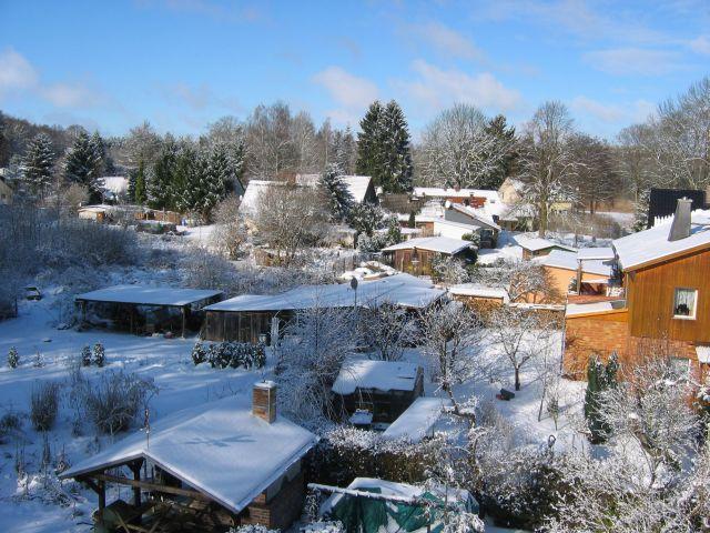 Verschneites Warenthin - der Winter verzaubert alles ...