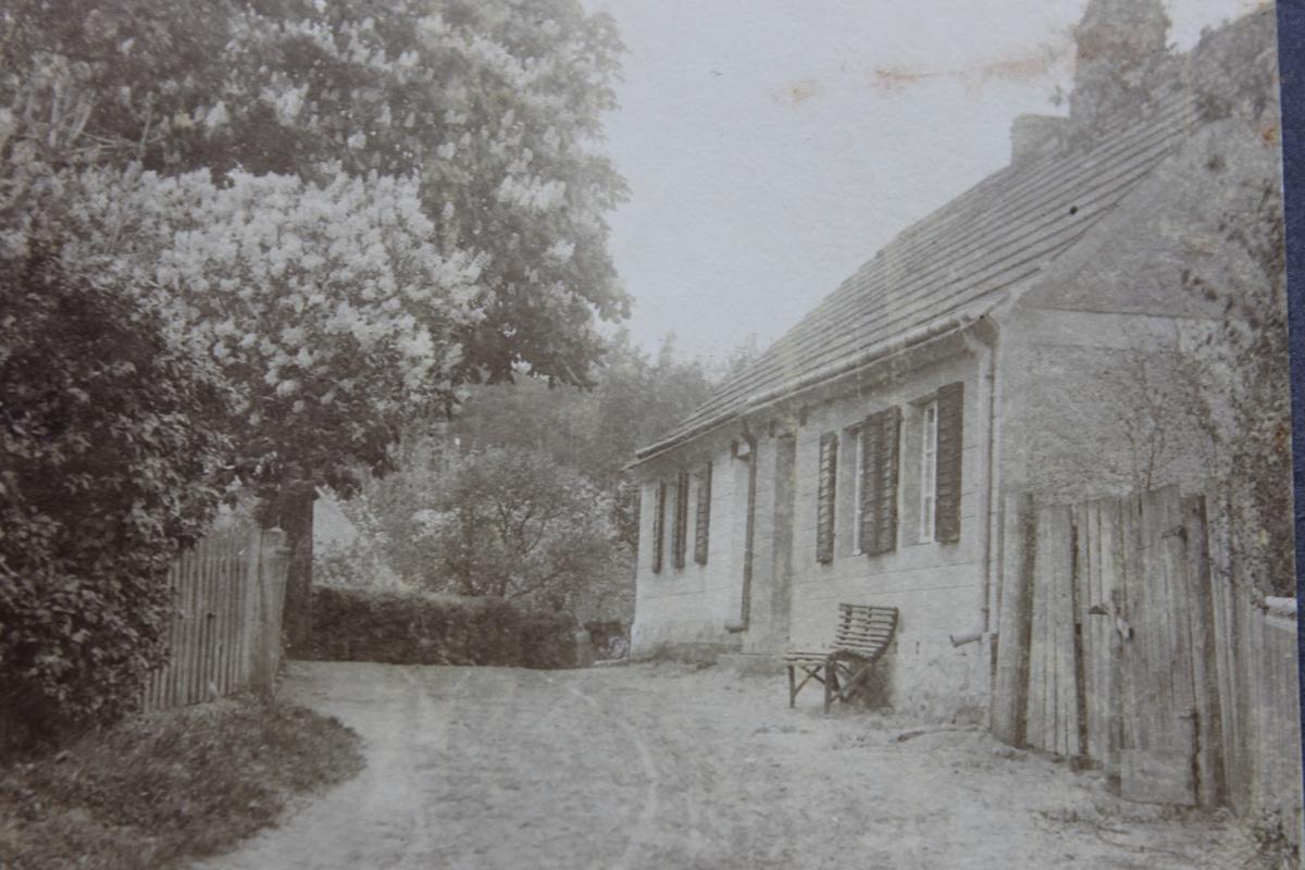 Die Dorfstraße in Warenthin um 1900.